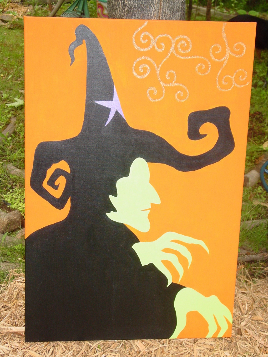 WICKED witch canvas arcylic painting wicked WITCH  of the  WEST from  wizard of OZ