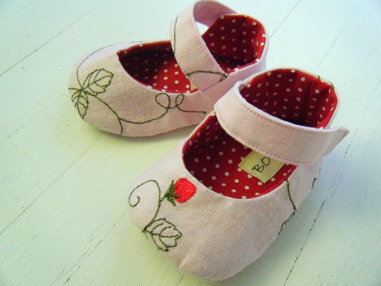 Розовое белье Клубника Мэри Джейн обувь для вашего ребенка девушка