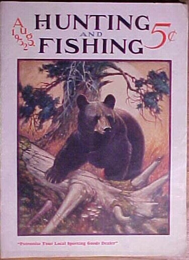 August 1932 hunting and fishing magazine by for Hunting and fishing magazine