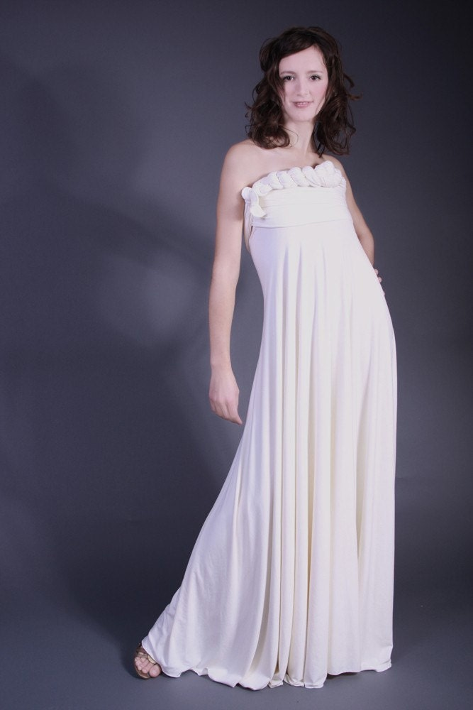 Etsy isadoraclothing Eco Chameleon Wedding Gown from etsycom