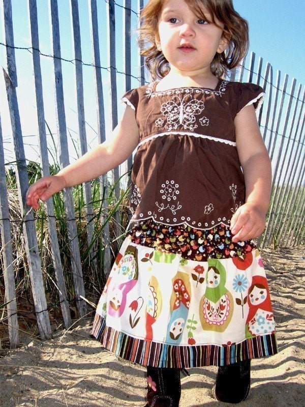 Russian Nesting Doll TWIRL SKIRT -- Available in Custom Sizes 12M 2T 3T 4T 5 6