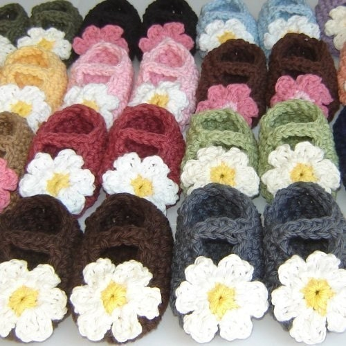 0-3 Month Maryjane Booties - You pick colors