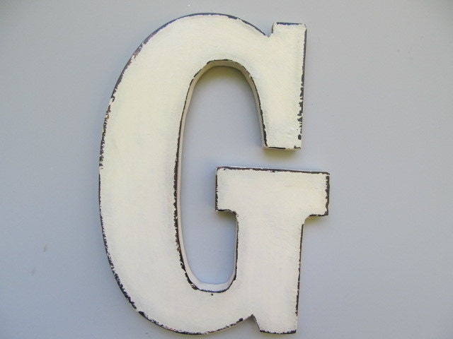 Large Wooden Letters For Wall Decor : Items similar to handmade large wall letters wooden