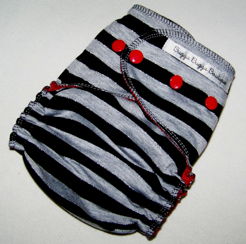 Vertigo Sparkle One Size Fitted Cloth Diaper