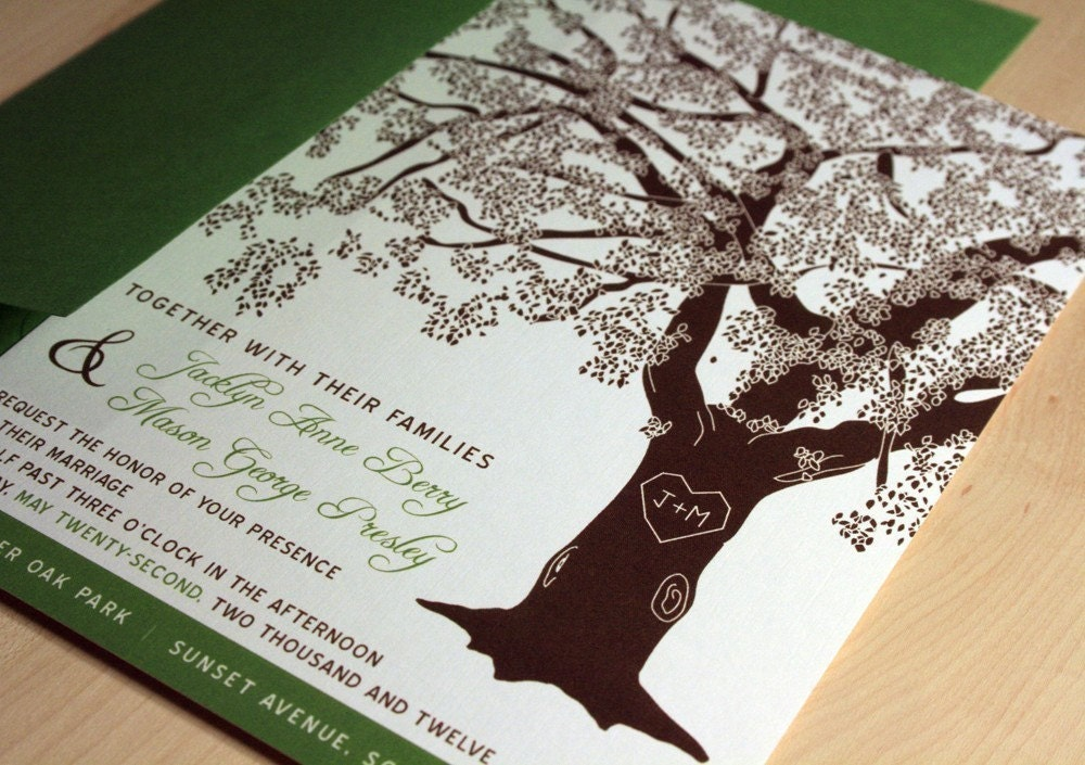 Grandfather Oak Tree Wedding Invitations, Buy this Deposit to Get Started