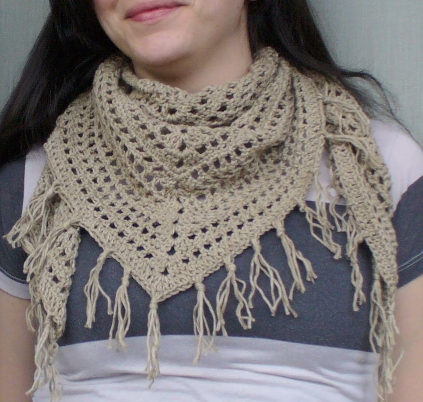 <br />organic cotton spring scarf