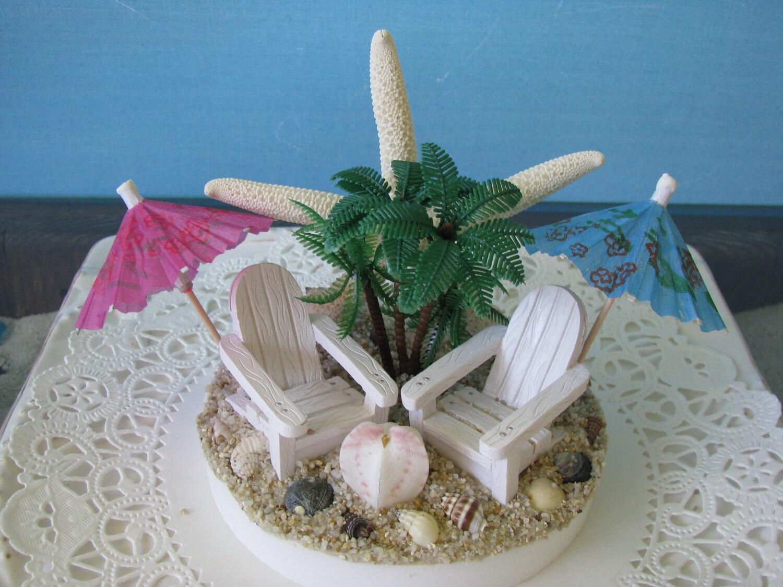Beach Wedding Cake Topper Adirondack Beach Chairs Cake