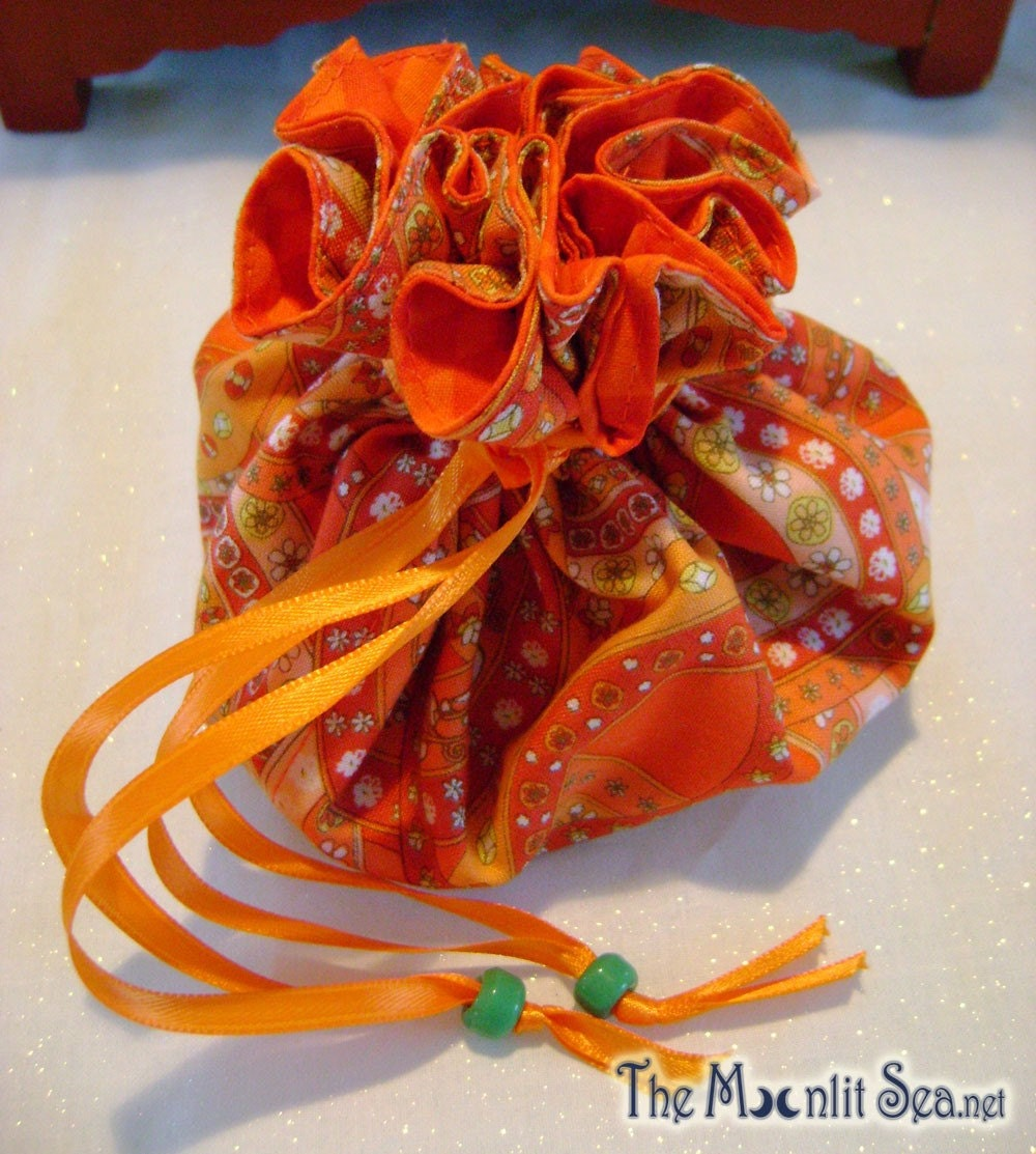 The Moonlit Sea Orange Sack