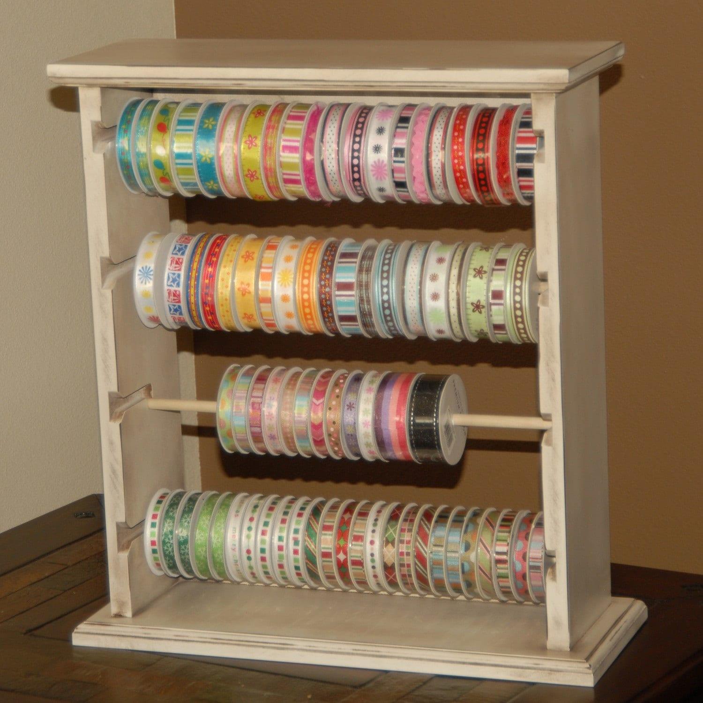 Large Ribbon Organizer Rack / Ribbon Storage - organize scrapbook ribbon - choose your paint color