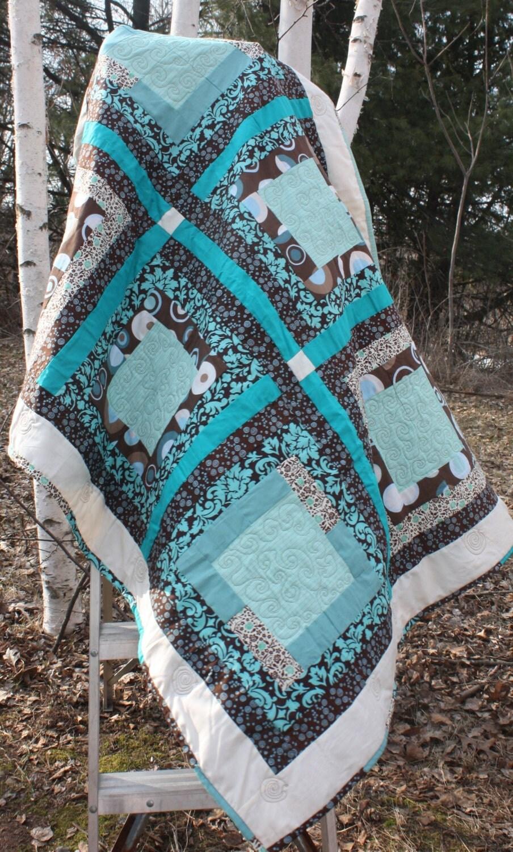 Sale window pane pattern lap quilt wedding guest book quilt