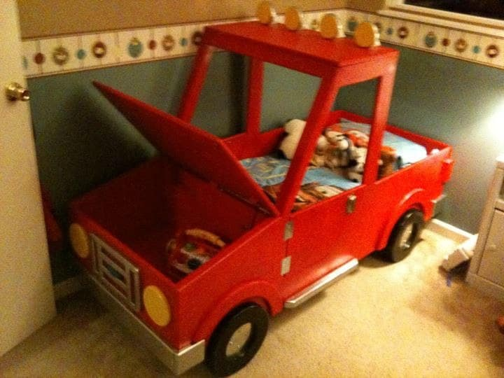 Truck Beds For Boys : Items similar to boys toddler truck bed on etsy