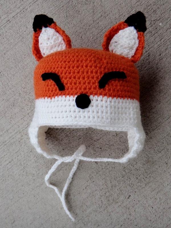Items similar to Handmade Crochet Fantastic Mr. Fox Baby Hat on Etsy