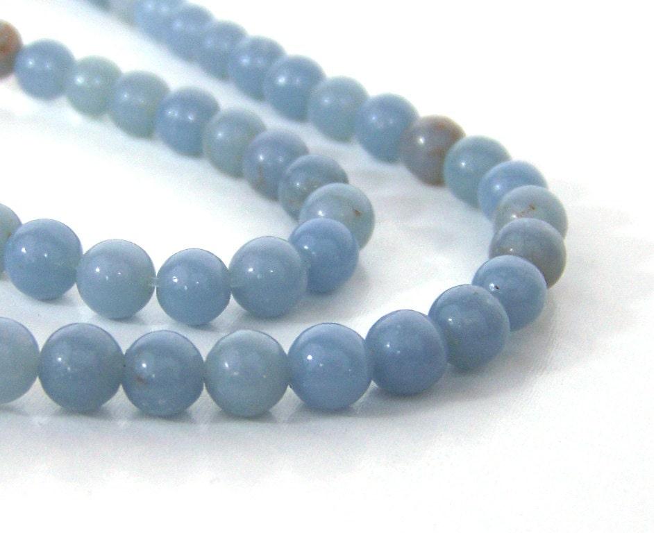 angelite light blue gemstone 6mm by