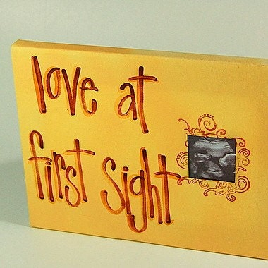 Love  Sight Picture Frame on Love At First Sight Tan Ultrasound Canvas By Imnotspoileddesigns