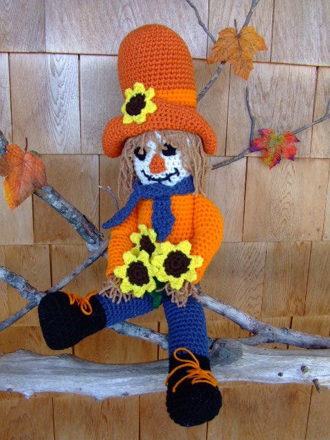Crochet Pattern Clint The Cowboy Scarecrow