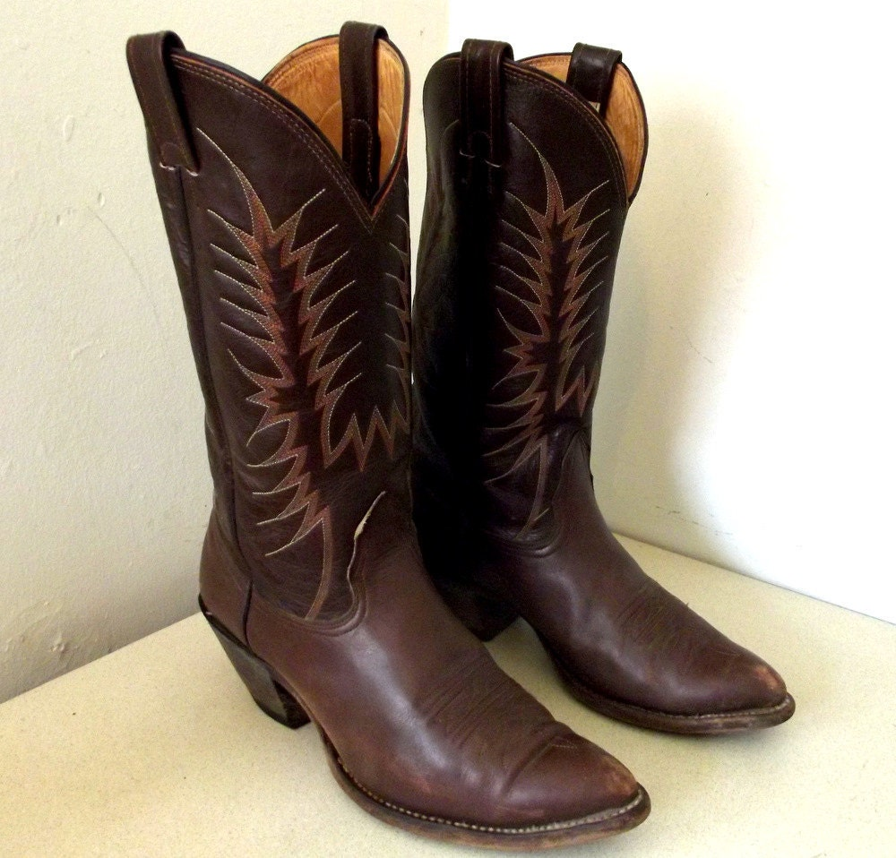Vintage Nocona Brand Cowboy Boots In A Sweet By