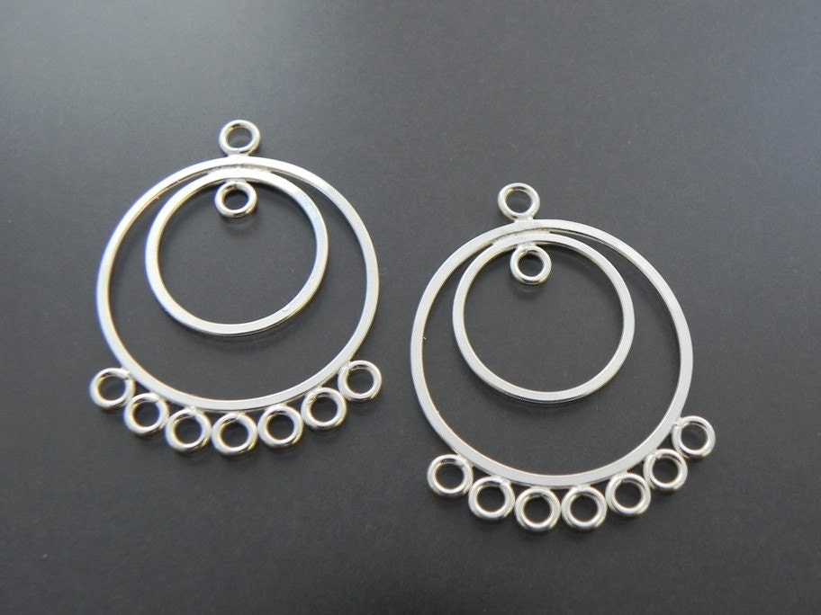 Sterling Silver Round Chandelier Earring Finding Jewelry Supply - midnightinsavannah