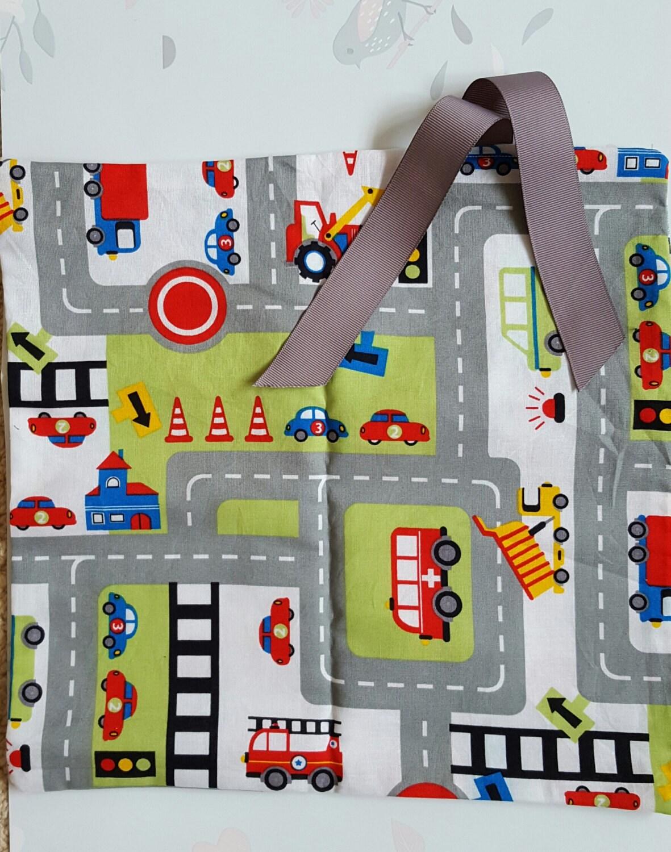 Travel Car Play Mat Road Map Activity Mat Fold  Roll up