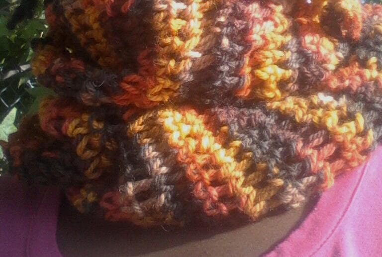 Falling For Fall Crochet Cowl, Circle Scarf, Infinity Scarf