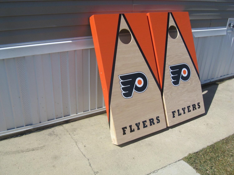 Philadelphia Flyers Cornhole Boards And By Custombackyardgames