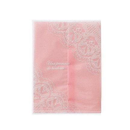 10 Elegant Pink Sweet Bags - (L) 100 x 135mm