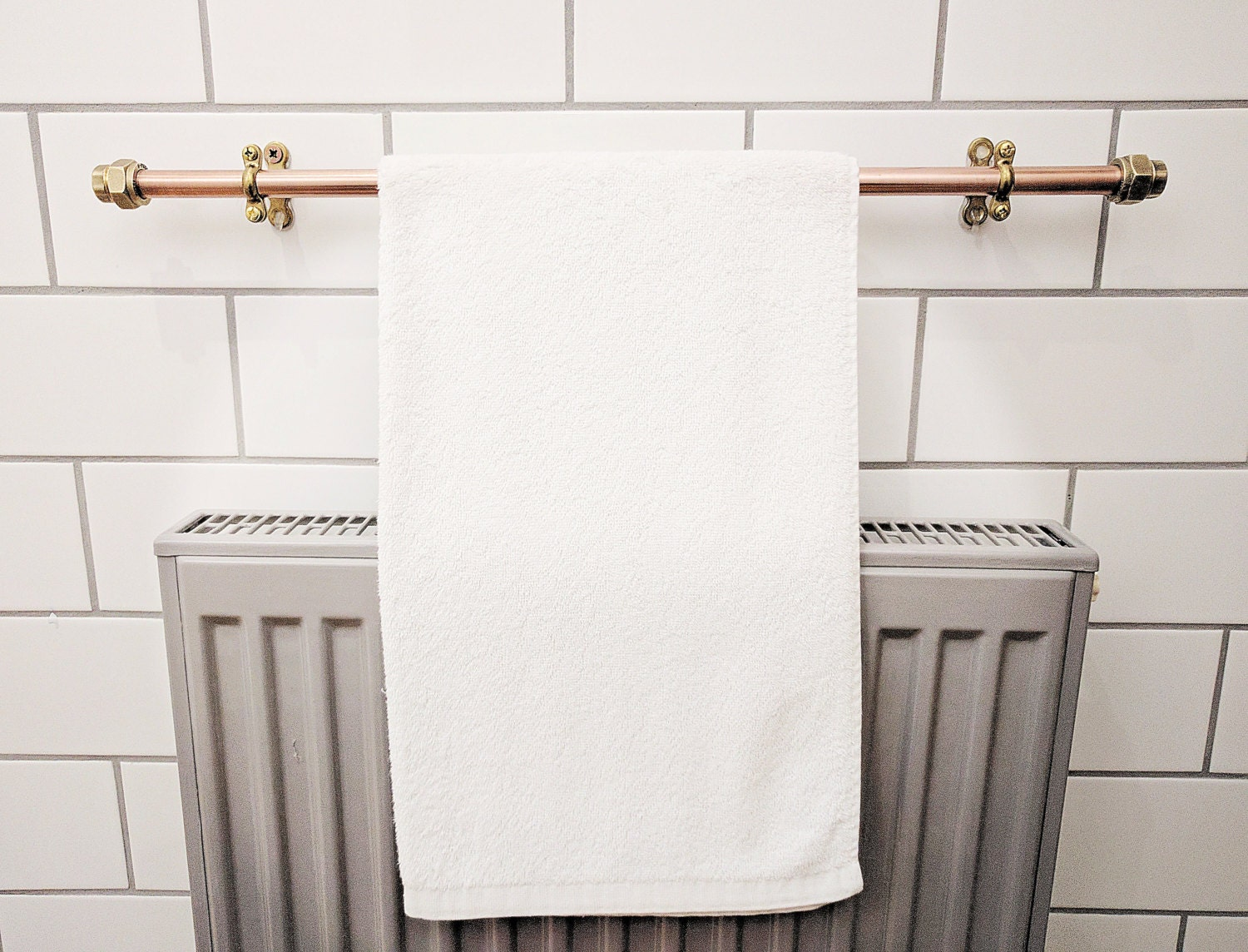 Copper Towel Rack Towel Rail Towel Bar Towel Ring Hand Towel Holder Bath Towel Bathroom Towel Rack Copper Pipe Towel Bar Bathroom Towel Rail