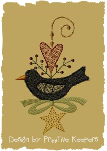 Primitive Machine Embroidery Designs- 2 - Primitive Stitches-Prim