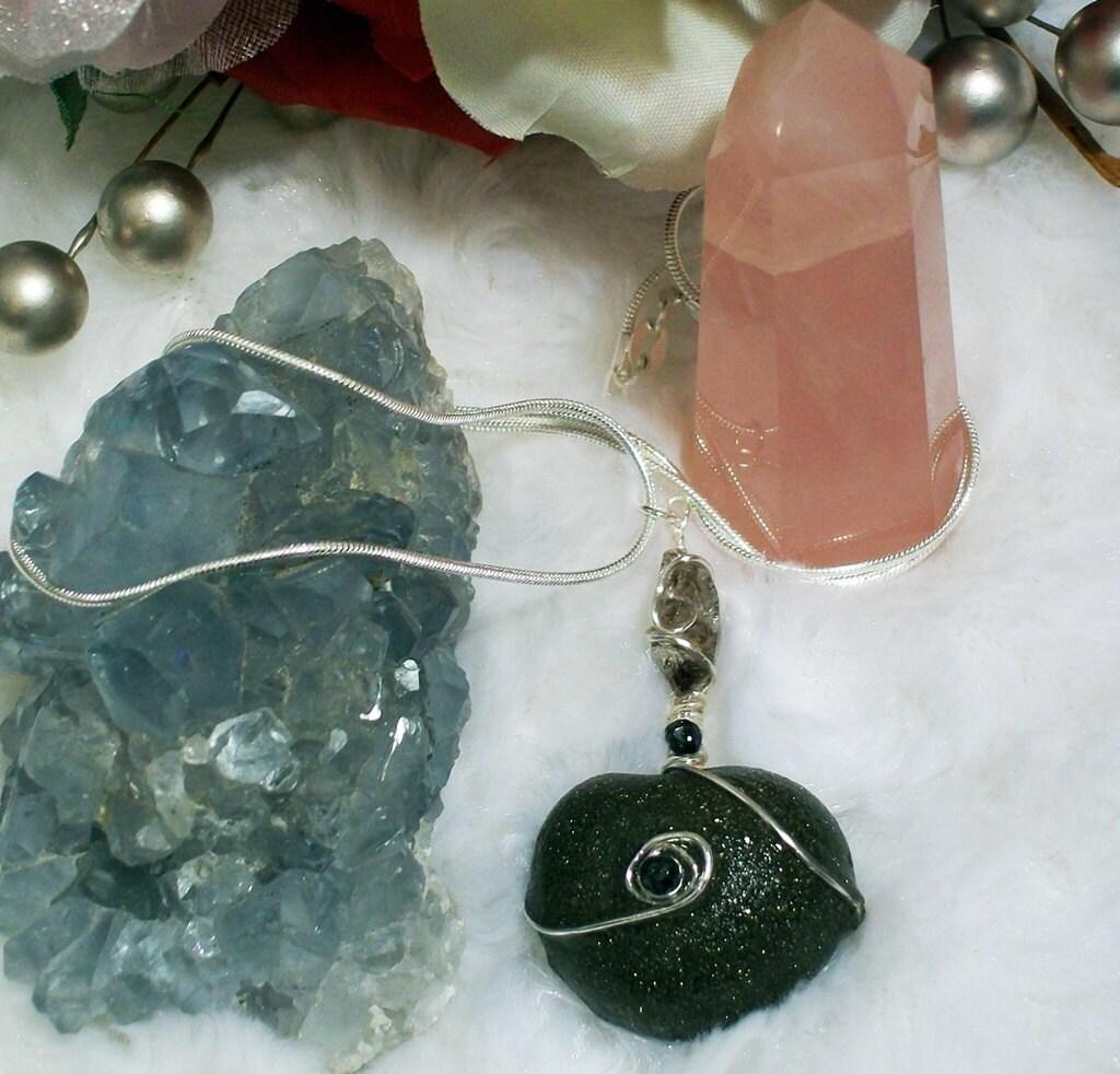 Sterling Silver Shaman, Chakra, Kansas Boji and Diamond Power Stone Necklace
