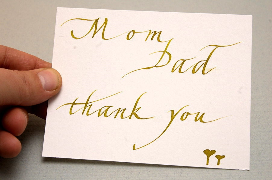 Thank You Letter Mom And Dad Family Letters Welcome Our Website