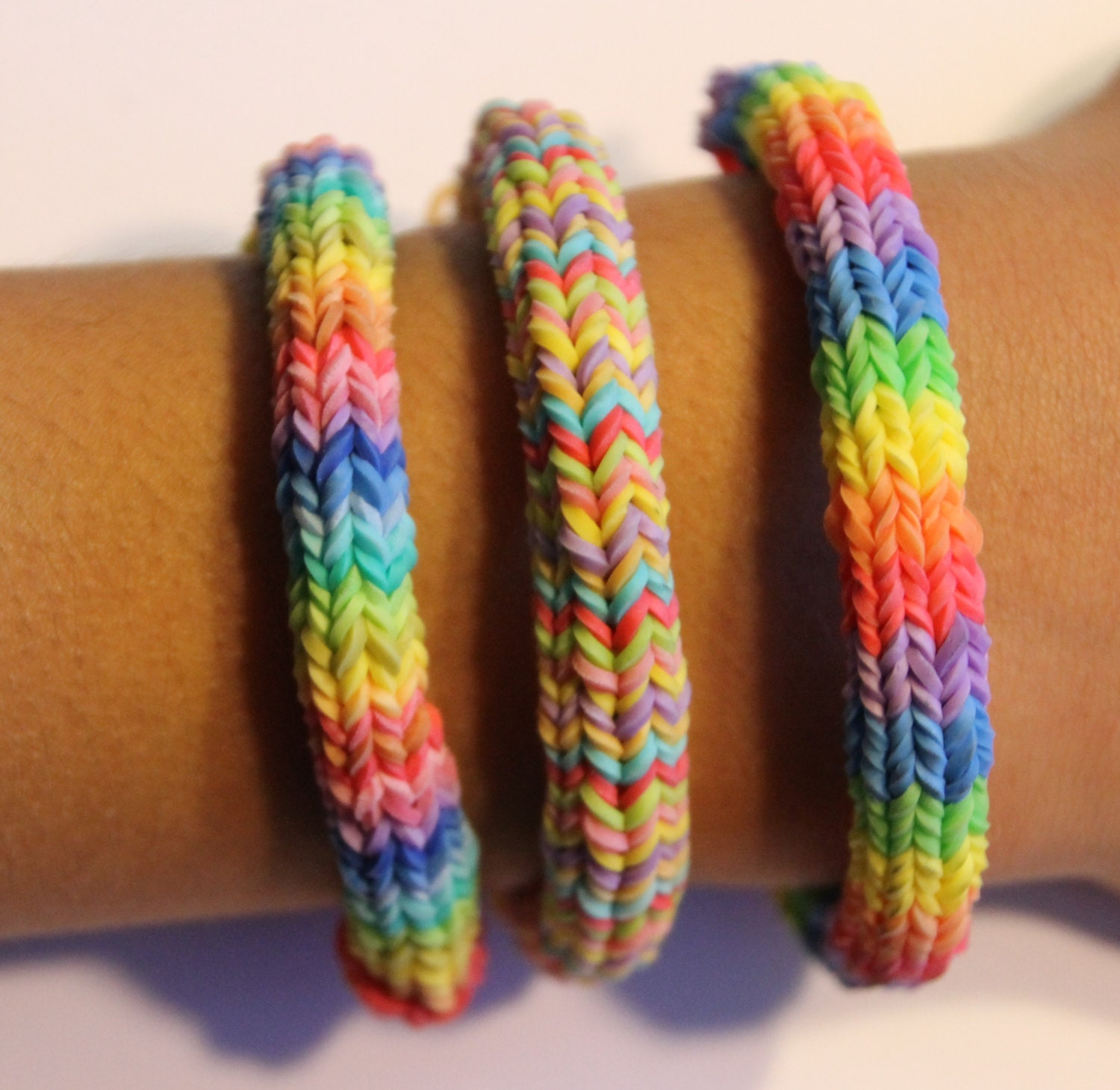 items similar to hexafish rainbow loom friendship bracelet