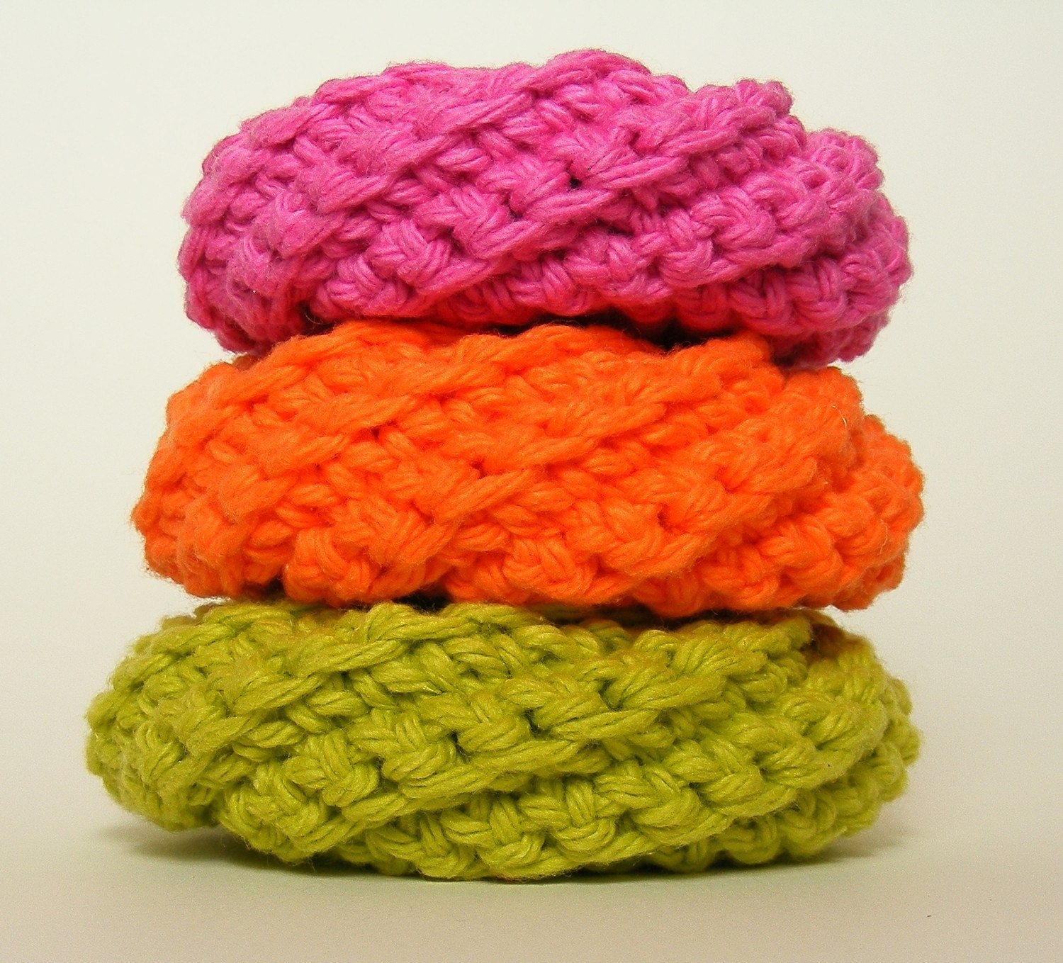 ScrubMeStylish Cotton Handmade Spiral Dish Scrubbies -  Yowza