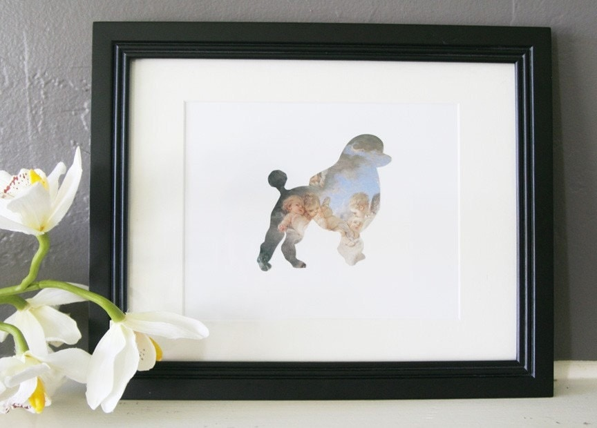 SALE-Angels in the Sky- Poodle Silhouette Cut Out