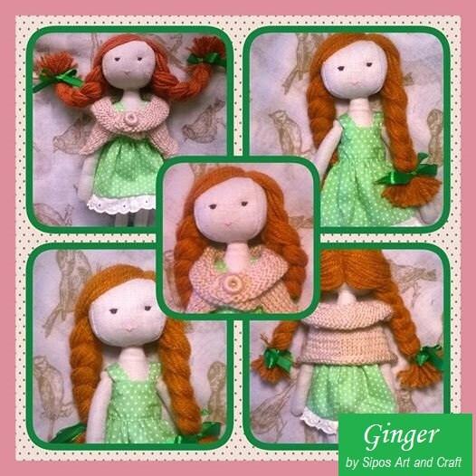 Handmade doll Ginger