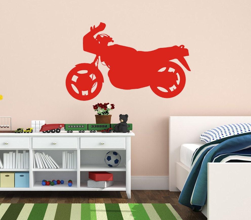 Motorcycle Wall Art Home Decor Vinyl Decal By Villagevinepress