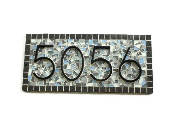 House Numbers Mosaic Address Sign