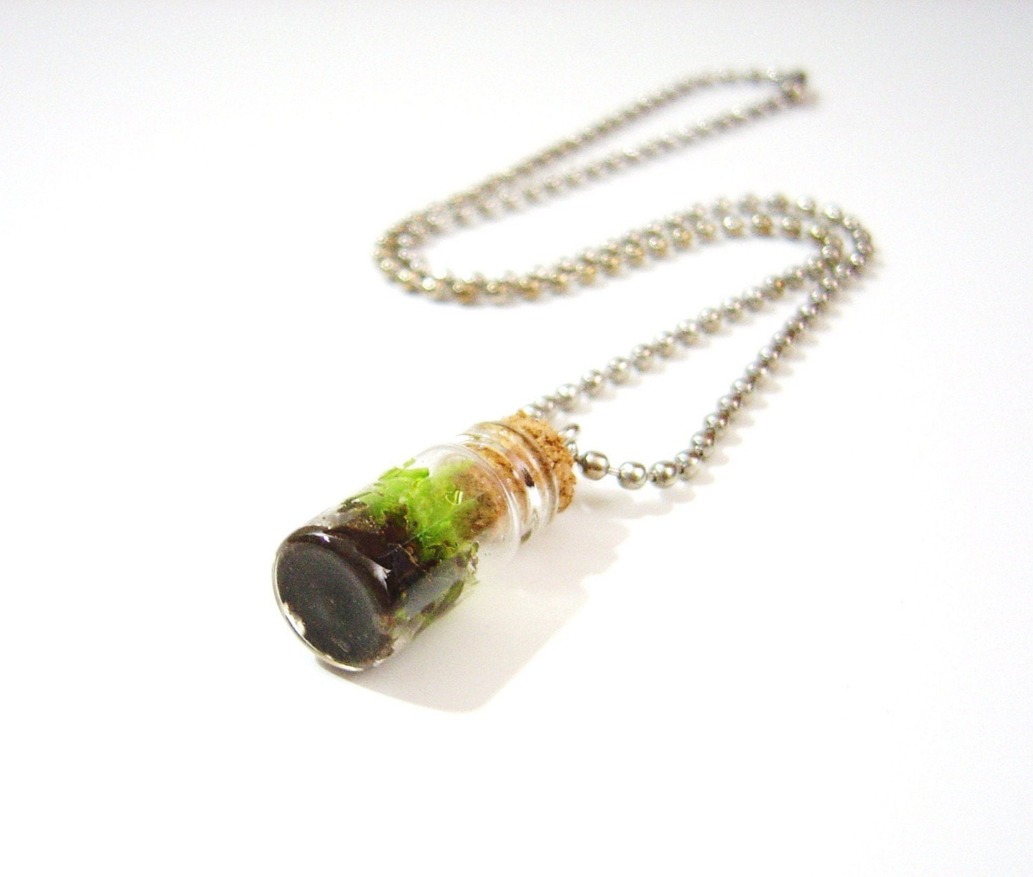 Live Moss Charm Necklace
