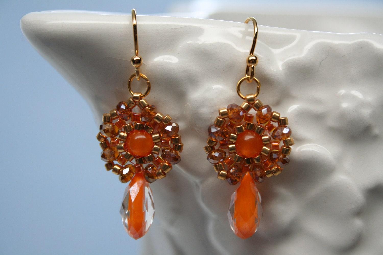 Indian Sun Set Orange Droplets