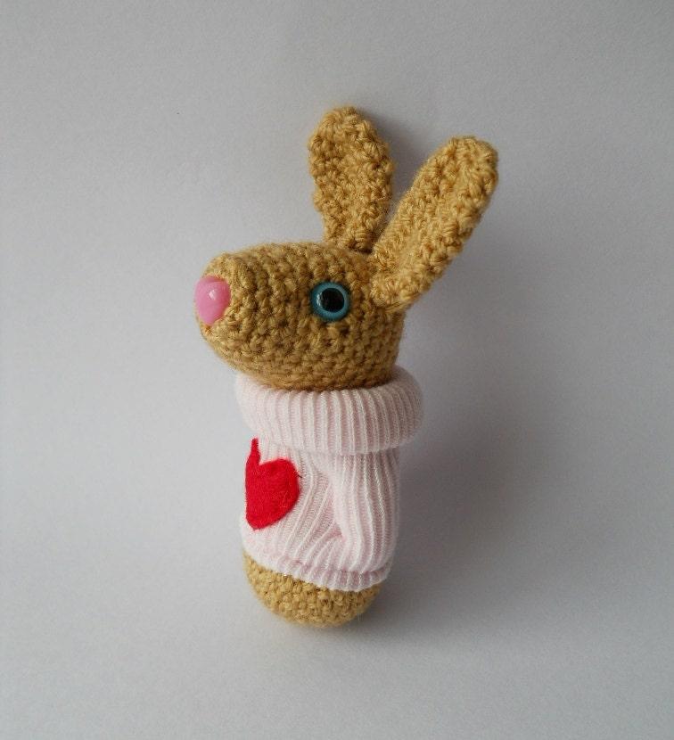 rabbit bunny Amigurumi crocheted animal plush by ...