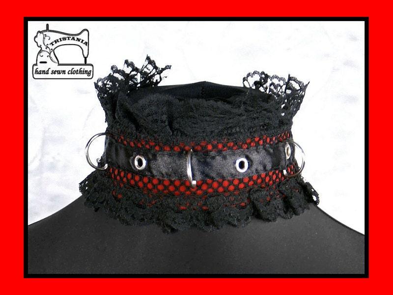 gothic cyber goth queen of darkness choker collar necklace necktie cosplay lolita victorian renaissance steampunk corset japan style  0600