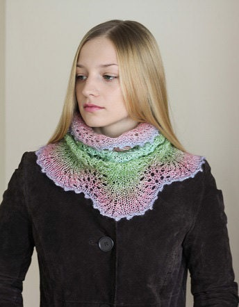 Hand Knit Neck Warmer, Ombre Cowl - Marceknit