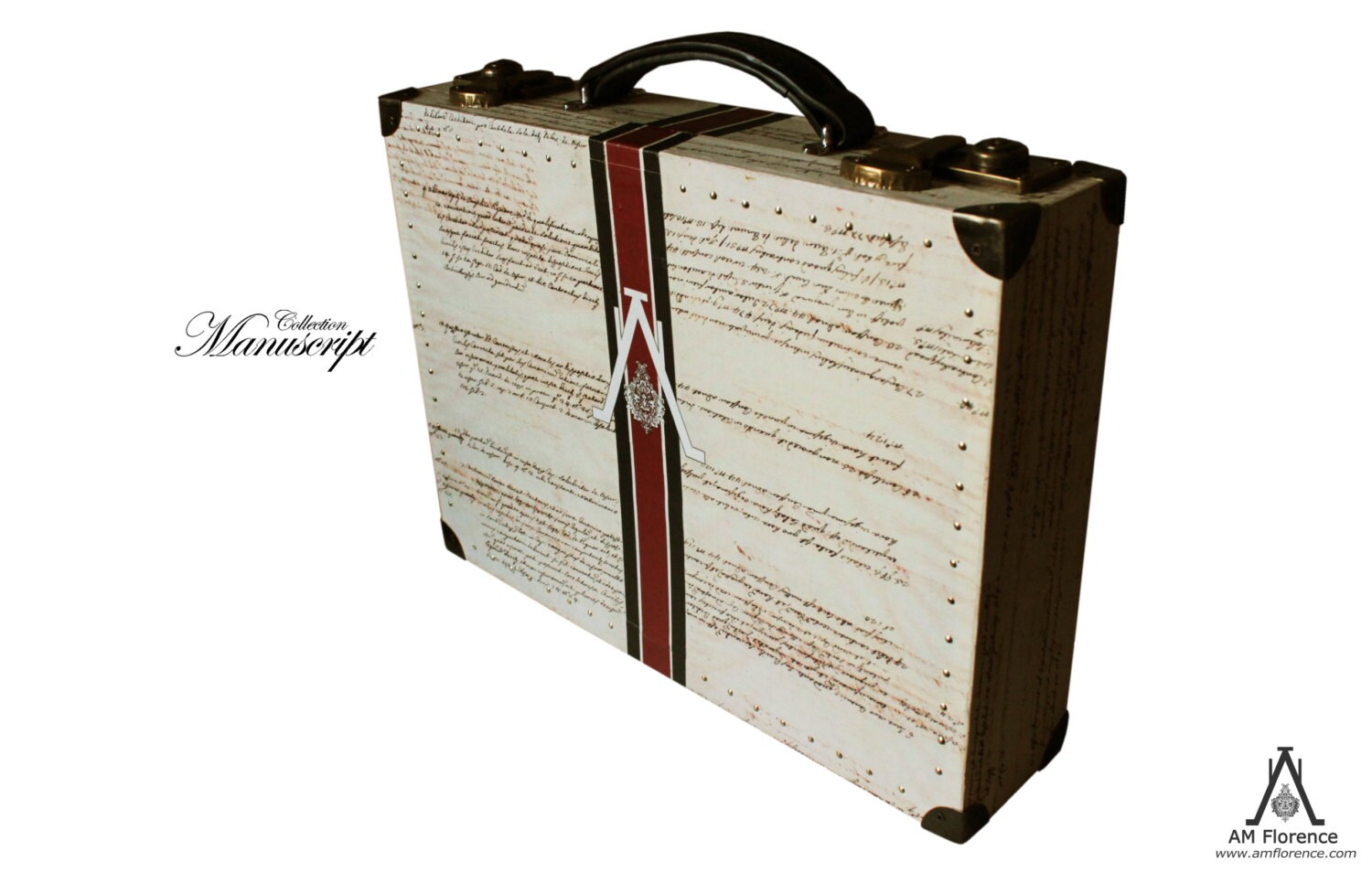 Luxury Briefcase Hardsided Luggage Vintage style Business Suitcase unique furniture storage home decor Mosshart 11