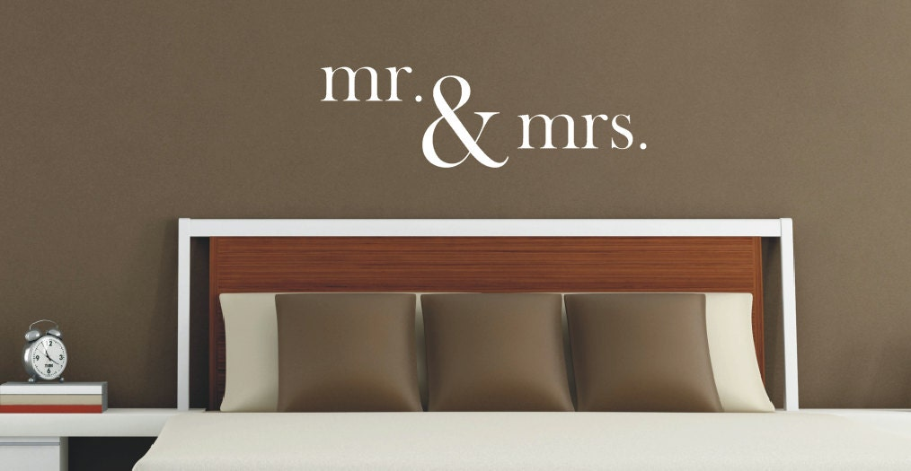Mr Mrs Wall Decal Vinyl Lettering Mr And By Lcvinyldesigns Home Decorators Catalog Best Ideas of Home Decor and Design [homedecoratorscatalog.us]