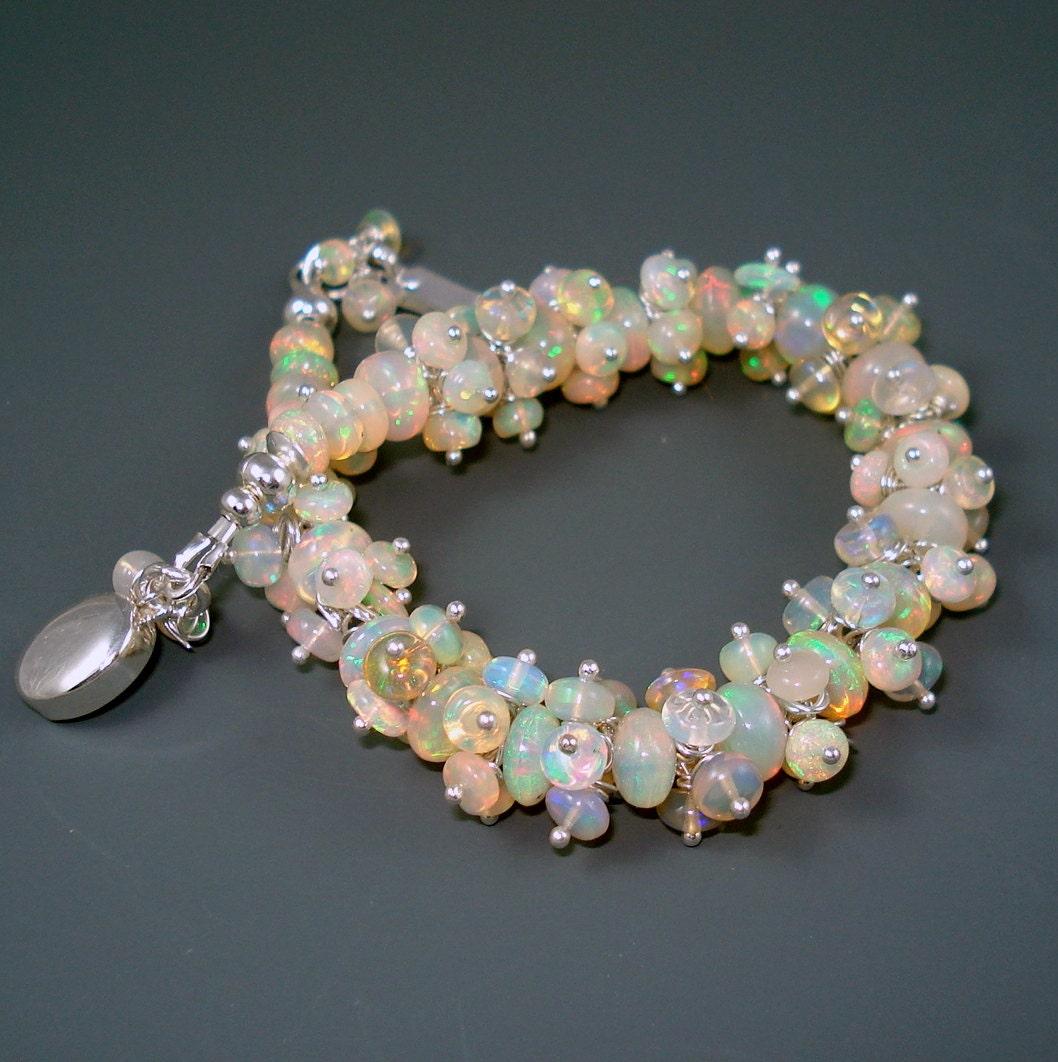 opal bracelet opals opal cluster by