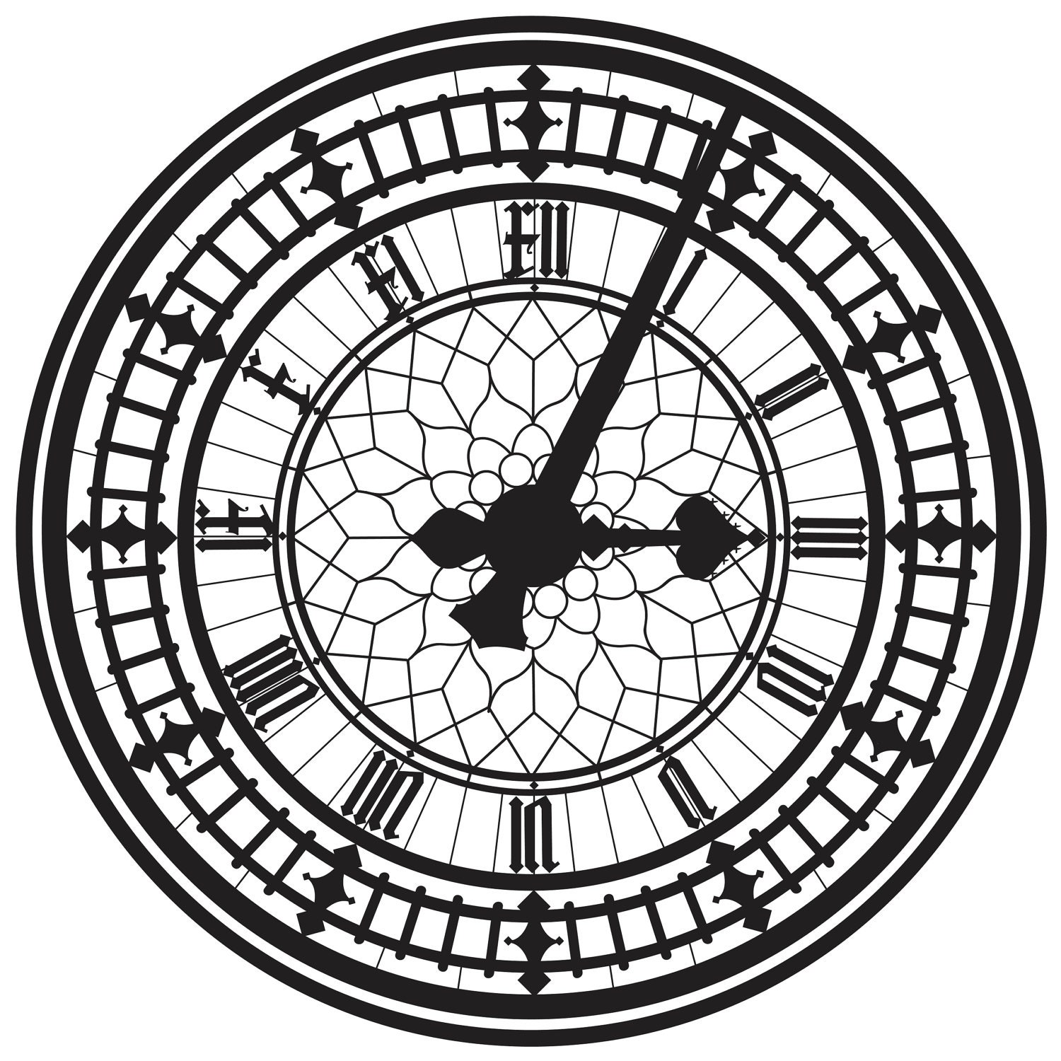 Big Ben Clock Face, Vector Image – Paint The Moment