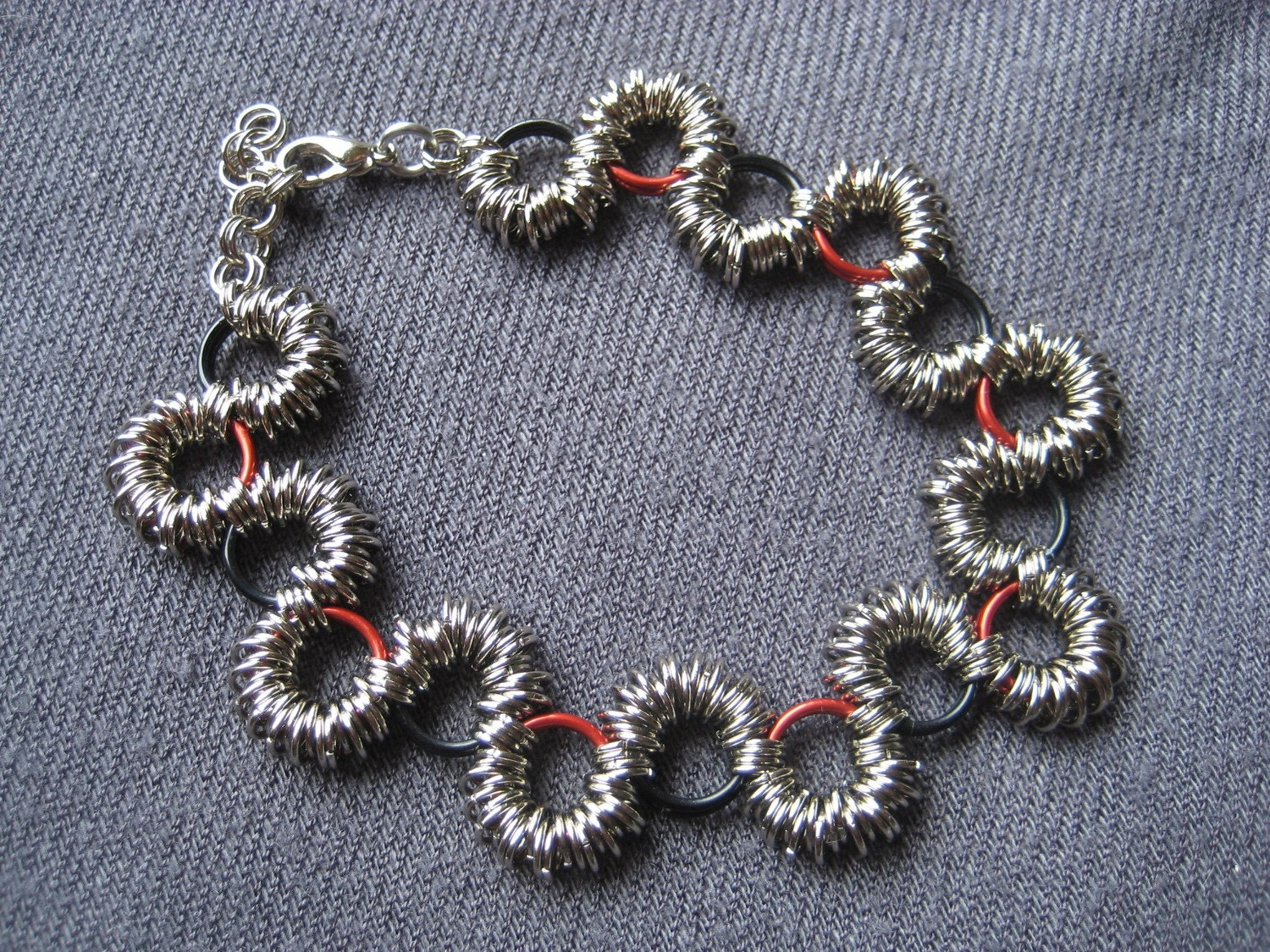 "Chainmaille ""Coiled"" Style  Snake Bracelet"