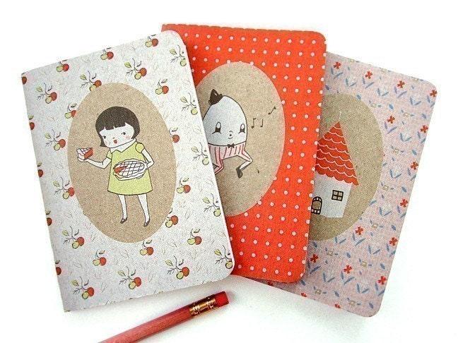 Sweet As Pie Pocket Notebook Three Pack