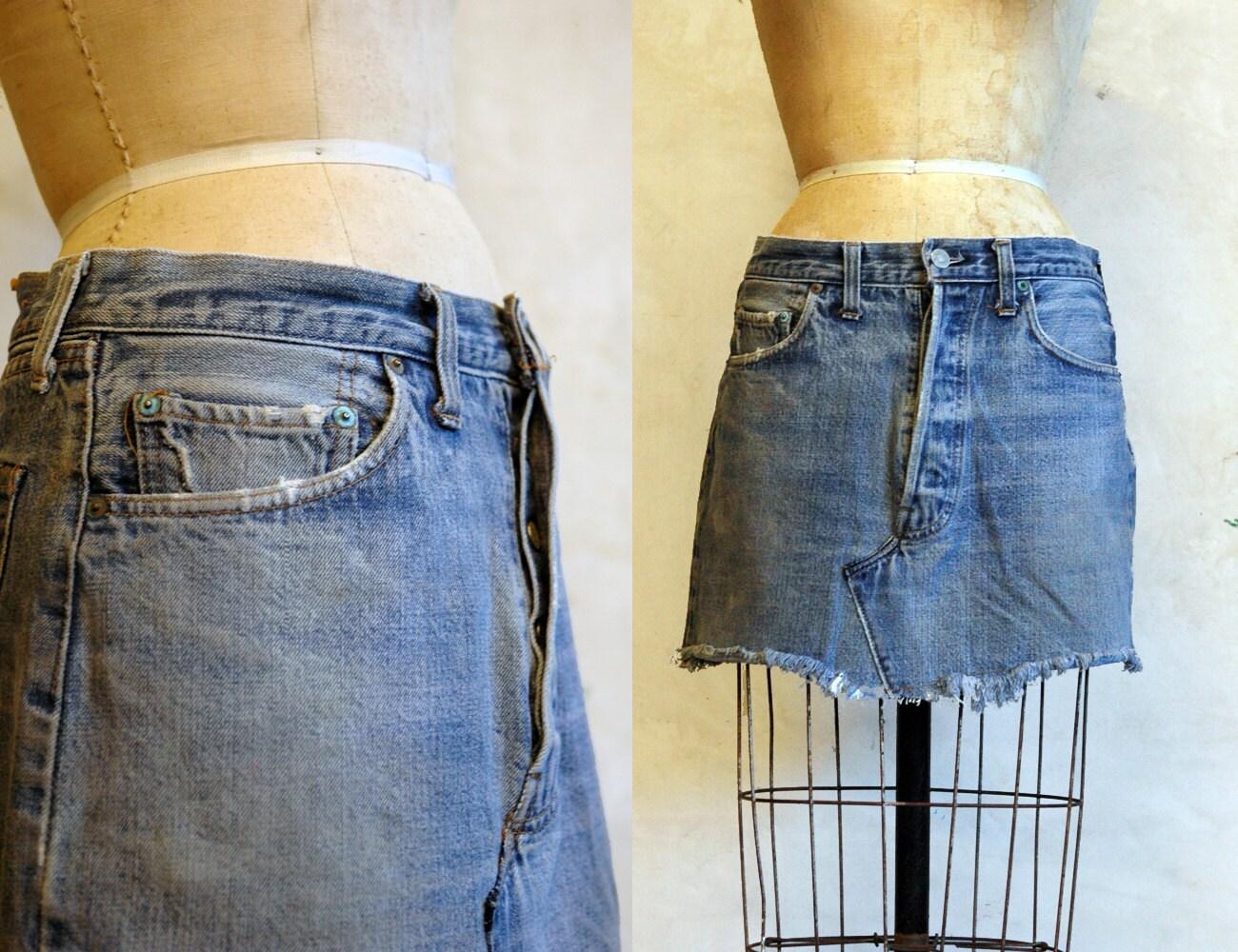 1970s levis mini skirt vintage denim skirt by 86vintage86