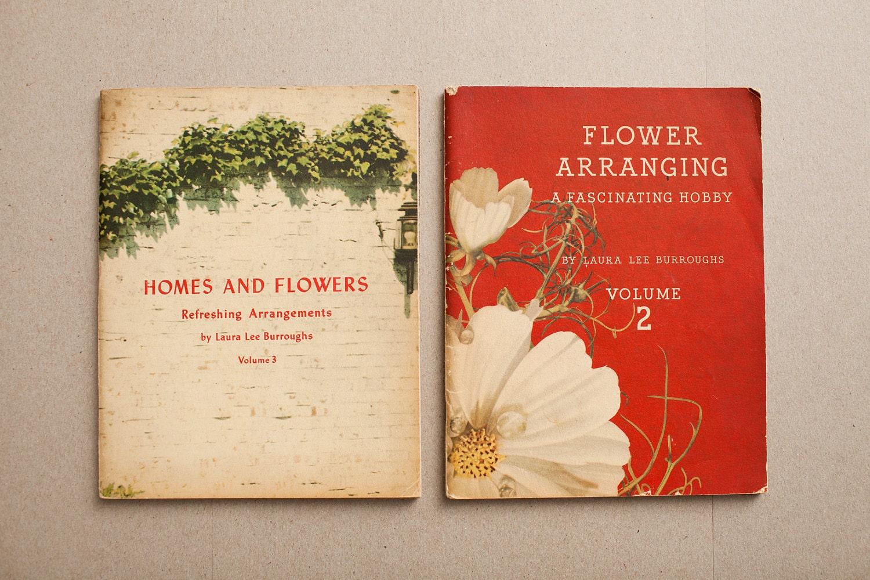 Items similar to two s flower arrangement books on etsy