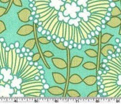 CLOSEOUT SALE. Amy Butler August Fields Coreopsis Spruce.  Home decor weight 55/56in. Heavy Cotton Sateen