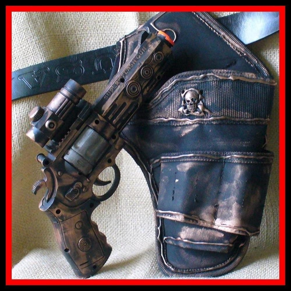 Steampunk gothic Gun Holster BELT PostApocalyptic Zombie Fall out star wars----- DIRECTLY From YEAR  2053 - oldjunkyardboutique